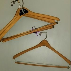 6 High End Vintage Wood Pant Hangers